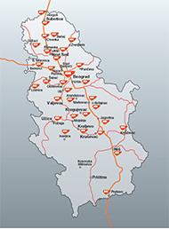 benzinske pumpe srbija mapa Maloprodajna mreža u Srbiji   MOL Serbia benzinske pumpe srbija mapa